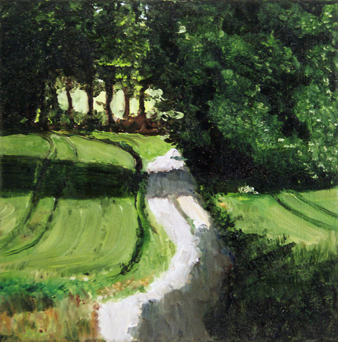 painting of dutch landcape, childerij Nederlands landschap