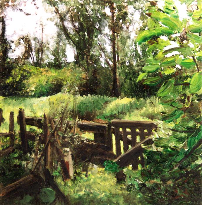 painting of a Dutch landscape, schilderij Nederlands landschap